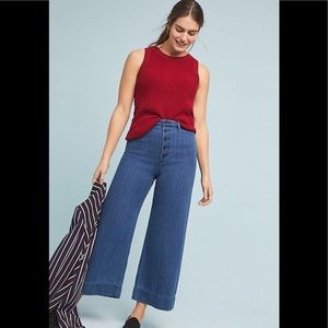 Anthropologie high waisted wide leg jeans
